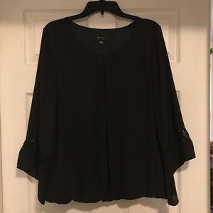 Black bell sleeve blouse. Like new